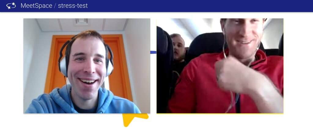 MeetSpace on a Plane